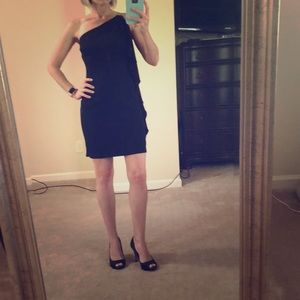 Sexy WHBM One Shoulder LBD